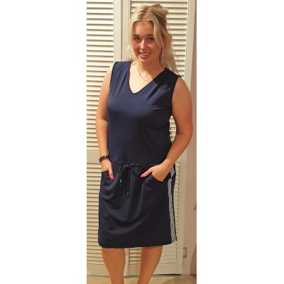 Vera Jo travel jurkje  donkerblauw